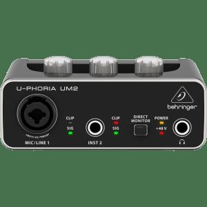 UM2  U-PHORIA   AUDIOPHILE 2x2 USB INTERFASE DE AUDIO CON PREAMPS XENYX
