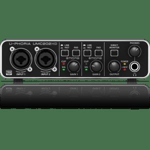 UMC202HD  U-PHORIA   AUDIOPHILE 2x2, 24-Bit/192 kHz  USB INTERFASE DE AUDIO CON PREAMPS MIDAS  BEHRI